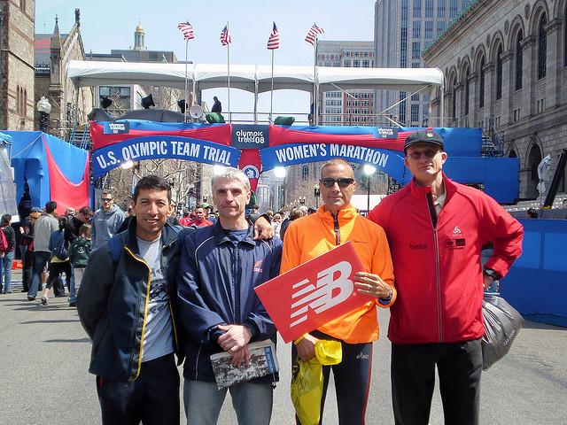 Vor dem Boston Marathon 2008