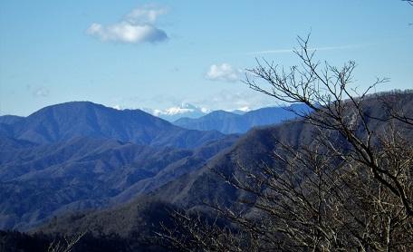 鍋割山から北岳