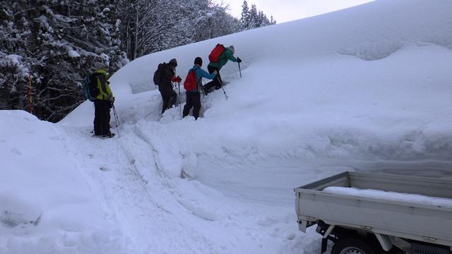 21日午前中の雪が上がり14時過ぎ散策に出かける14:43
