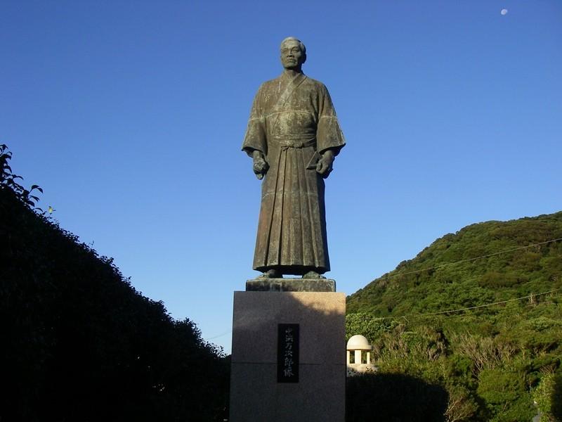 足摺岬に建つジョン万次郎像