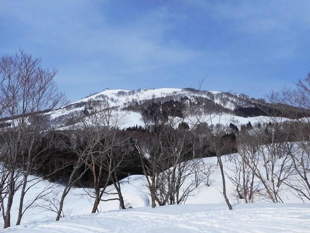 9・41 奥添地の台形に上がる 素晴らしい 岩原スキー場
