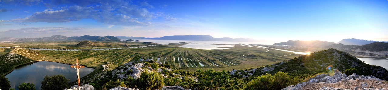 Rogotin / Kroatien - Mündung der Neretva in die Adria