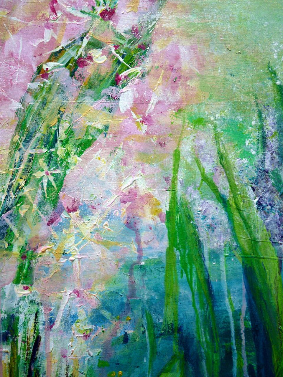 Wasserpflanze, Acryl-Malerei