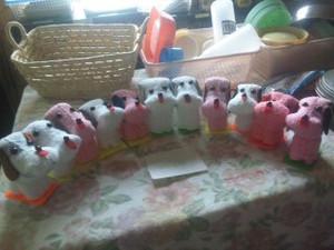 中学生の女の子たちの作品、ずら~り!