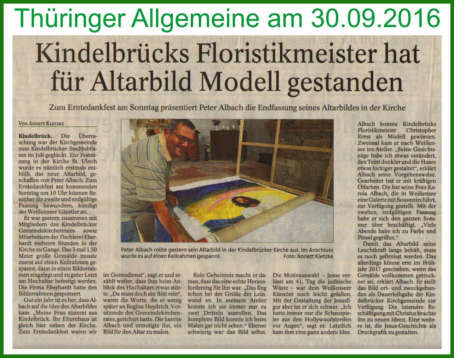 Pressebericht Thüringer Allgemeine