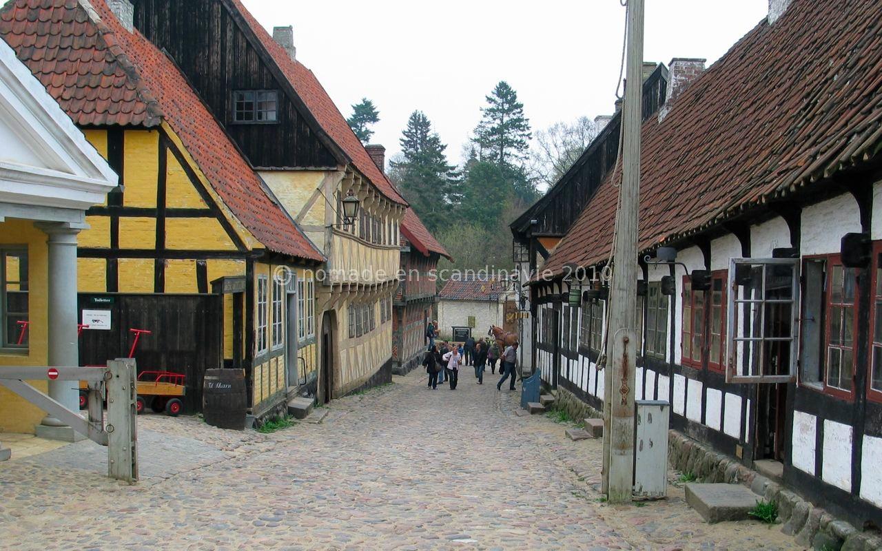 Den Gamle by (la vieille ville), à Aarhus, les maisons reconstituées.