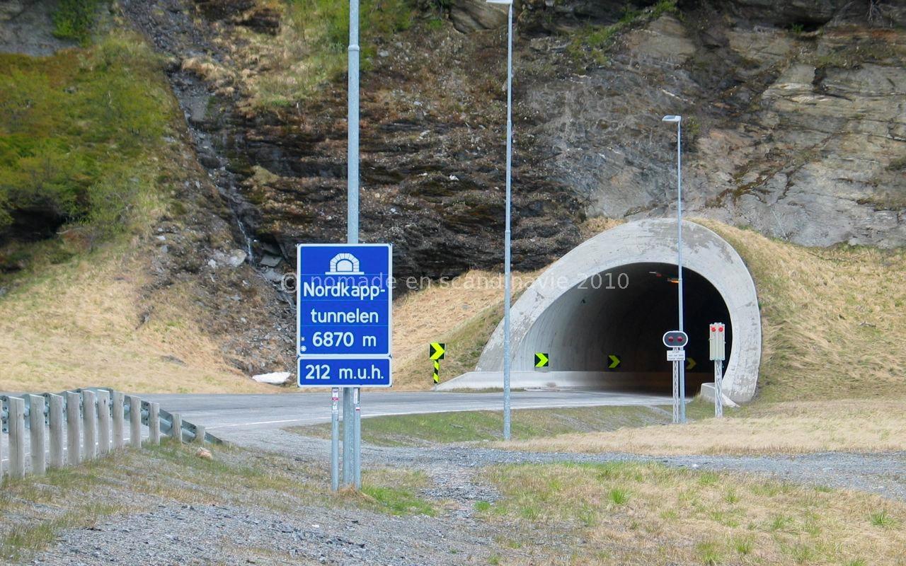 Entrée du tunnel de Magerøya