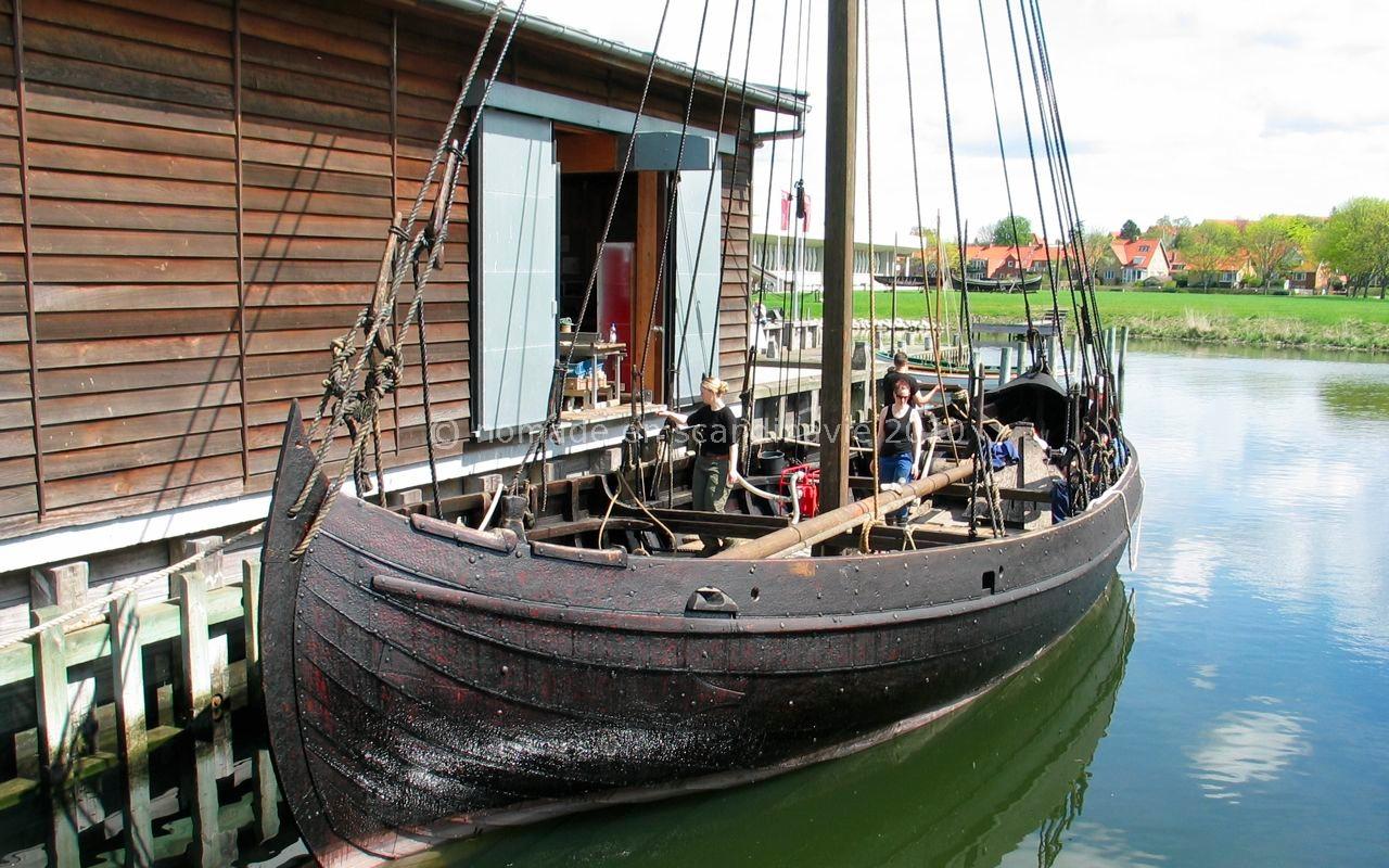 Roskilde, musée Viking, drakkar reconstitué.