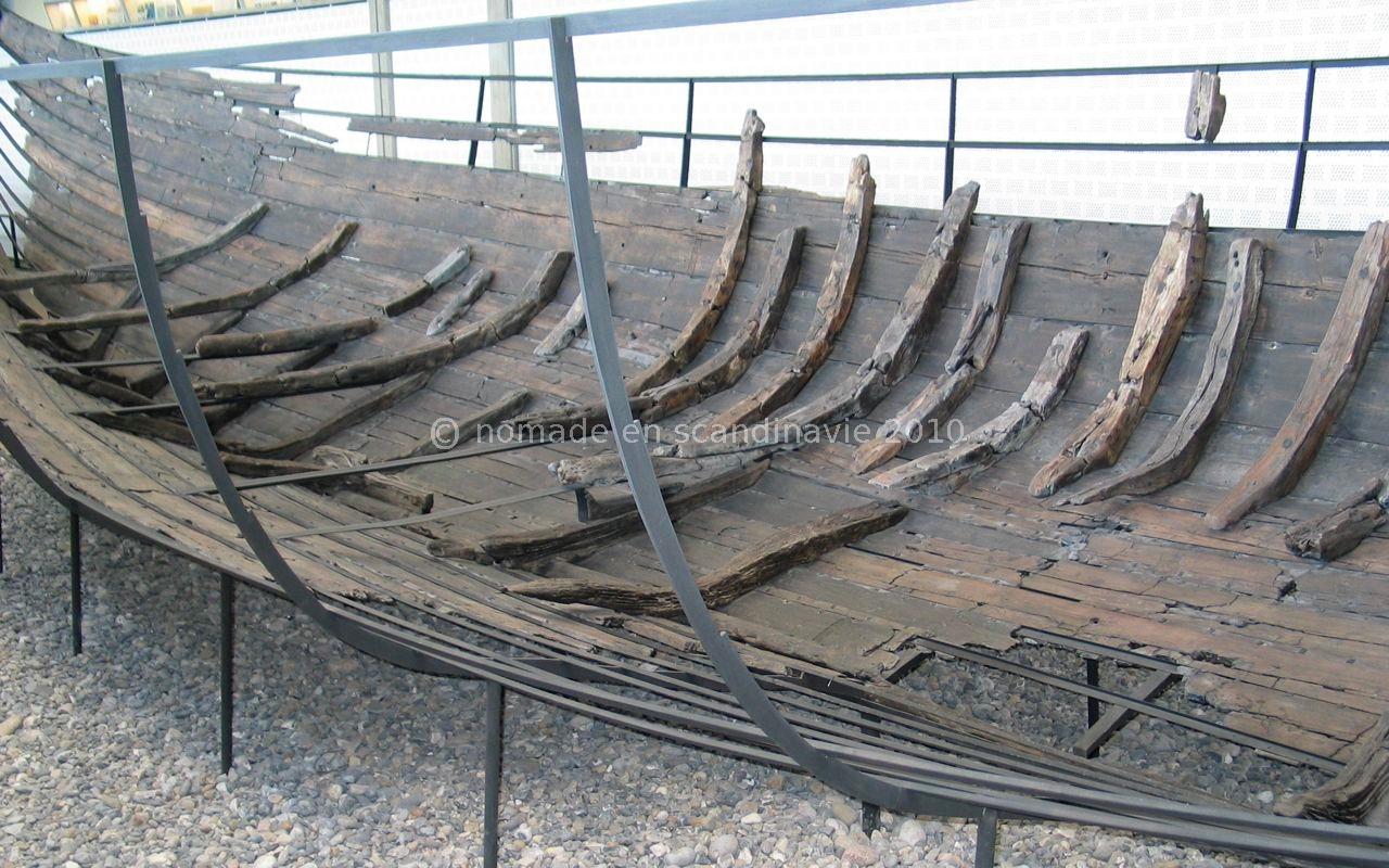 Roskilde, musée Viking, restes de drakkar.