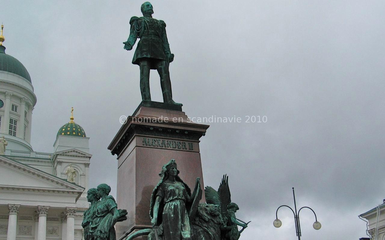 Helsinki, Statue du Tsar Alexandre II