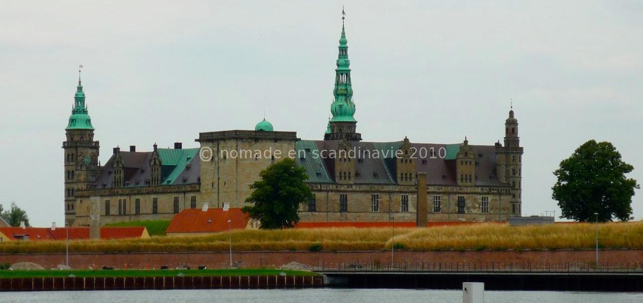 Le château d'Hamlet à Helsingør (ou Elseneur).
