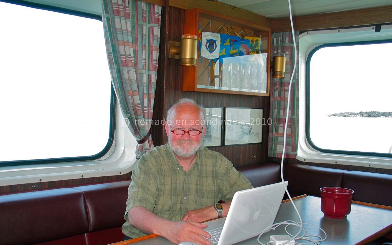 Nous bénéficions d'une connexion internet sur le bateau