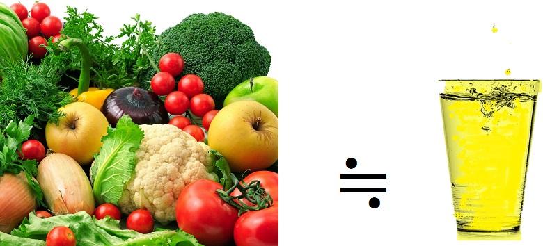 肉100gに対して、野菜を900gも食べなれれば中和されませんが、バーモント酢200㎖飲むだけでアルカリ性に引き戻してくれます。