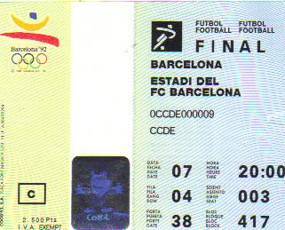 1992 Barcelone : Finale 3/4 Ghana - Australie