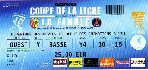 Finale 2008 Paris SG 2 - 1 RC Lens