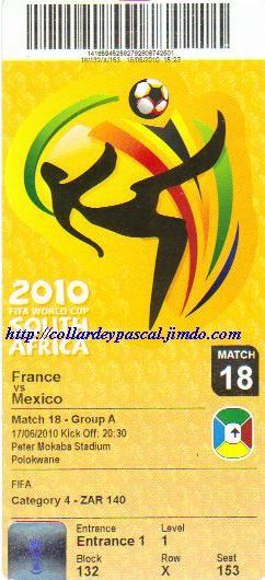 France  - Mexique (Afrique du Sud 2010)