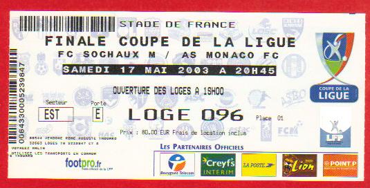 Finale 2003 AS Monaco 4 - 1 FC Sochaux M
