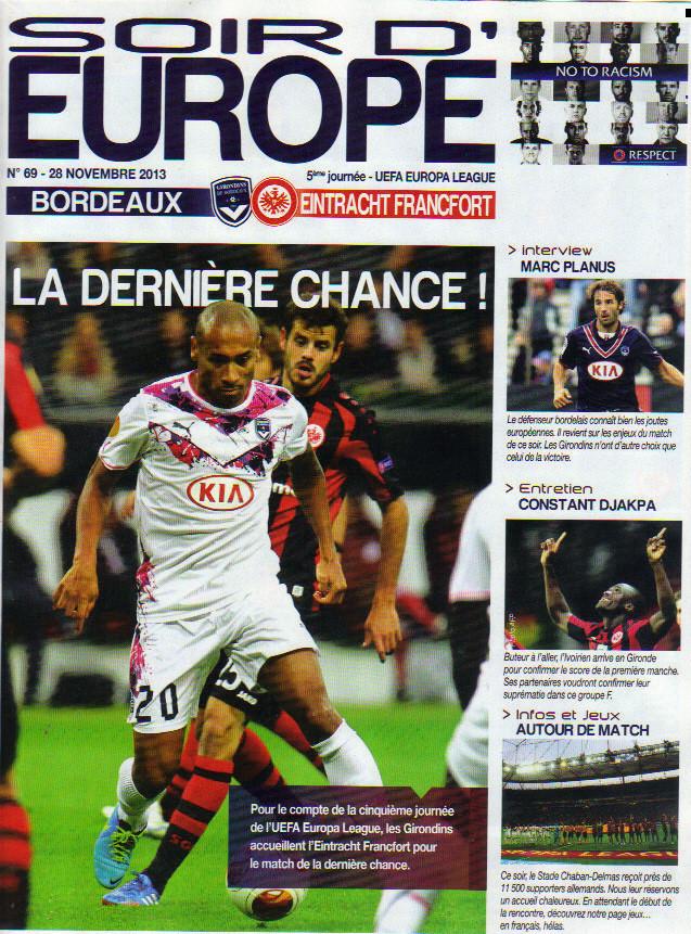 Girondins - Eintracht Francfort Ligue Europa 2013/14