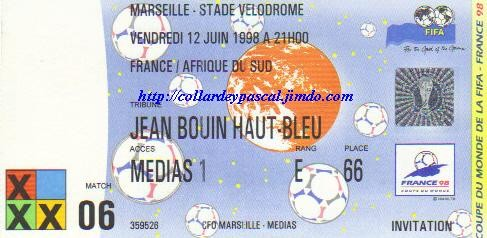 France  - Afrique du Sud (France 1998)