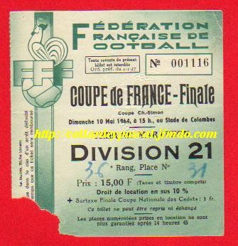 1964  Ol. Lyon  bat  G. Bordeaux  2 - 0