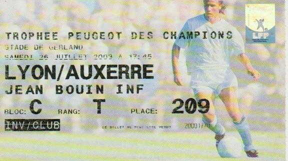 2003 à Lyon : Ol. Lyonnais bat AJ Auxerre 2 - 1