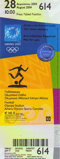 2004 Athènes : FINALE Argentine - Paraguay