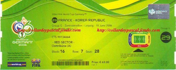 France  - République de Corée (Allemagne 2006)