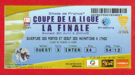 Finale 2005 RC Strasbourg 2 - 1 SM Caen