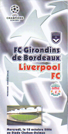Girondins - Liverpool FC (Programme Pirate)