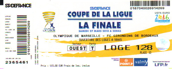 Finale 2010 O Marseille 3 - 1 G Bordeaux
