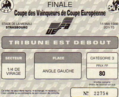 1988 à Strasbourg :  KV Malines - Ajax Amsterdam  1 - 0
