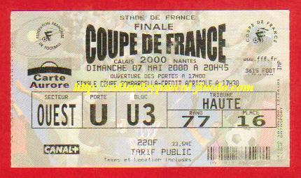 2000 : FC Nantes bat Calais RUF 1 - 0