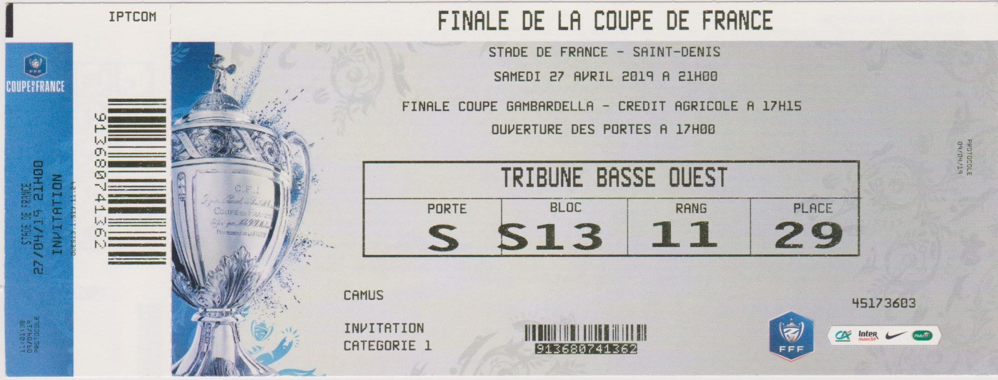 2019 : Stade Rennes bat Paris SG  2 - 2 (6-5 tab)
