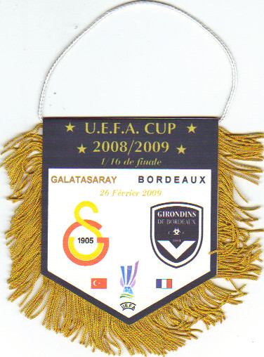 "Fanion ""pirate"" Bordeaux - FC Galatasaray 2008/09"