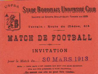 30/03/1913 : Stade Bordelais - ?