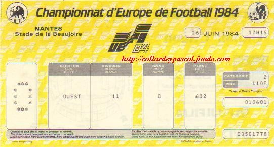 Euro 1984 : France - Belgique