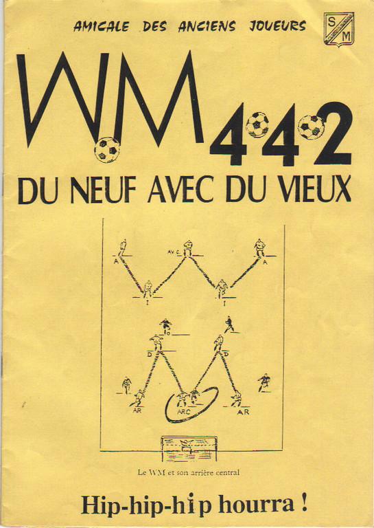 Menu sous forme de Presse Book les anciens du Stade Repas du 20/11/1993