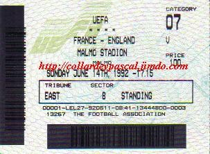 Euro 1992 : France - Angleterre