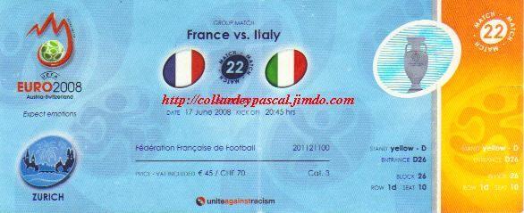 Euro 2008 : France - Italie