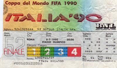 Finale Coupe du Monde 1990 : Allemagne - Argentine (Italie)