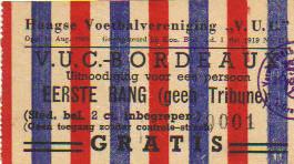06/12/1949 : V.U.C. La Haye - Girondins 2/0 Jubilée Bertus de Harder