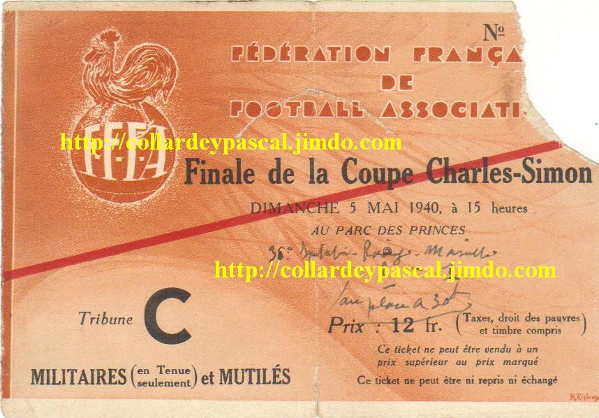 1940 RC Paris bat Ol. Marseille 2 - 1