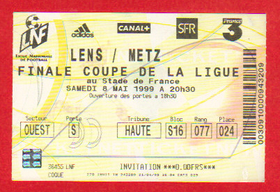 Finale 1999 RC Lens 1 - 0 FC Metz
