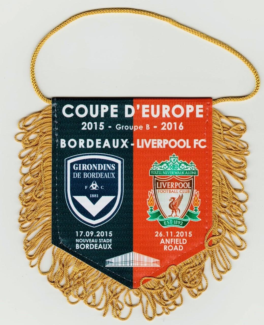 Ligue Europa 2015/16 Bordeaux - Liverpool FC, pas de production pour les matchs face à Larnaca, Kairat, Sion et Rubin Kazan