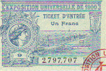 1900 Paris : France - Royaume Uni