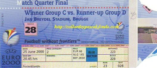 Euro 2000 : France - Espagne 1/4 de Finale