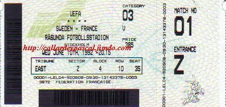 Euro 1992 : France - Suède