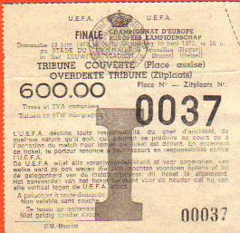 Finale Euro 1972 Belgique