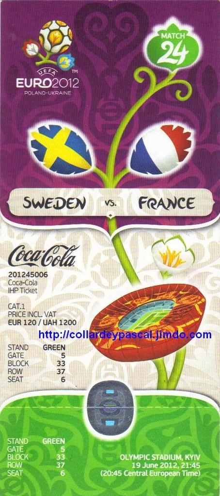 Euro 2012 : France - Suéde