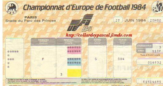 Euro Euro 1984 : Finale France - Espagne la France Championne d'Europe